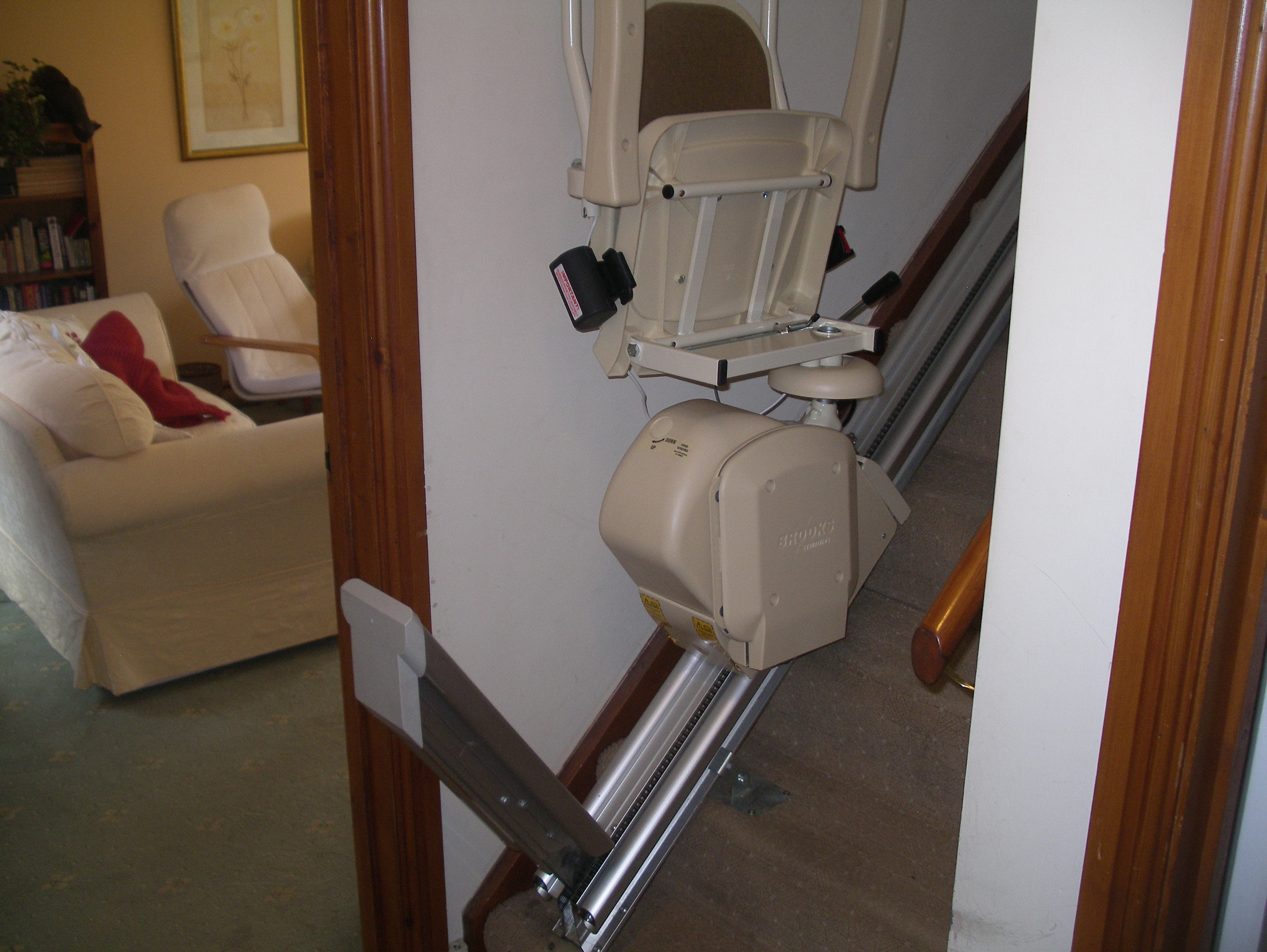 Great British Stairlifts New Sit/Stand Brooks Stairlift Newtown Powys