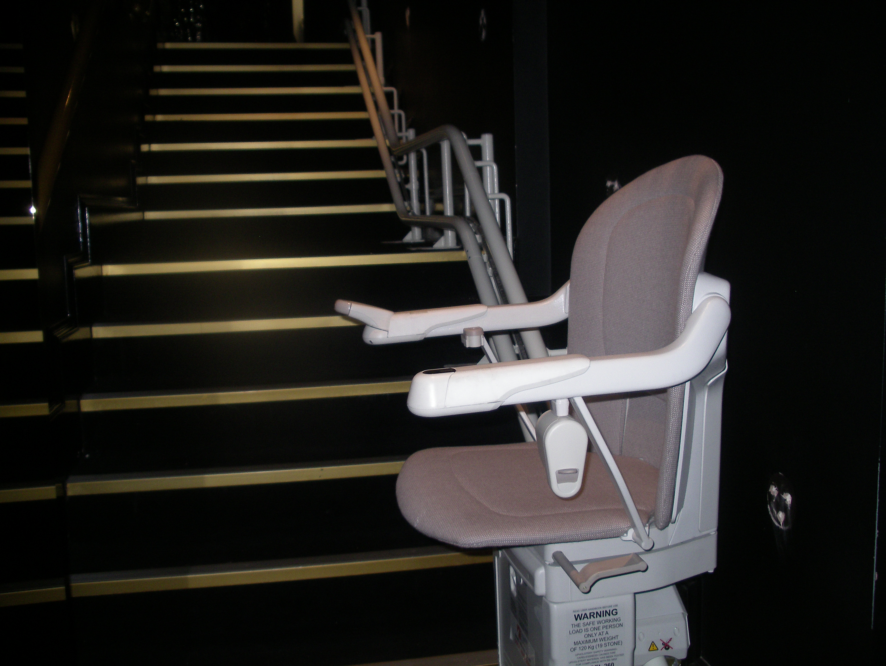 Great British Stairlifts Curved Stannah Sarum Stringfellows London