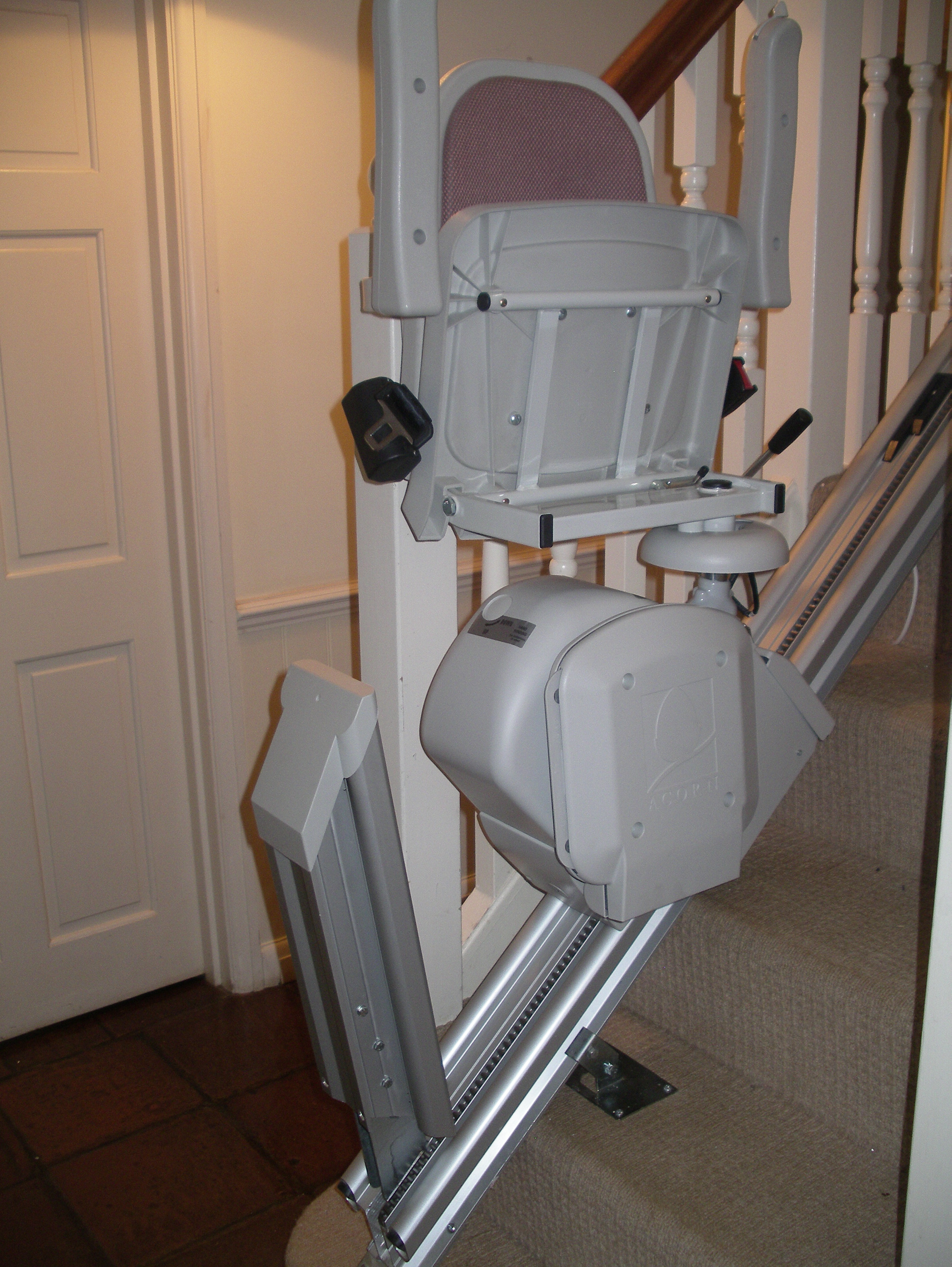 Great British Stairlifts Hinged Rail Reconditioned Acorn Stairlift West Sussex